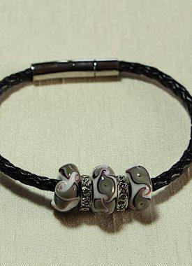 bracelet cuir gris 10