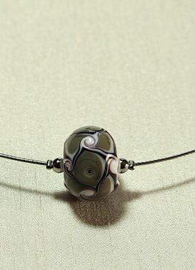 collier 1 boule gris 10